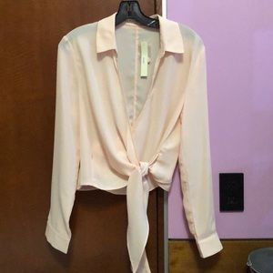 Brand new pink wrap blouse